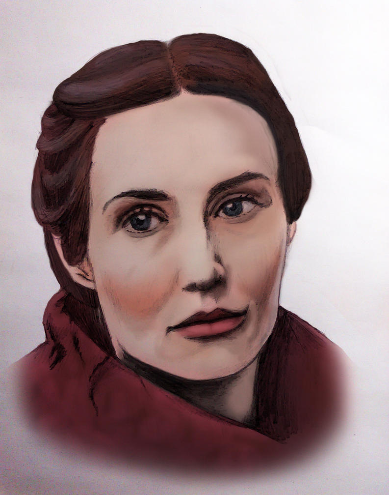 Melisandre/Carice van Houten - Colored Sketch by DarkSteelPenguin