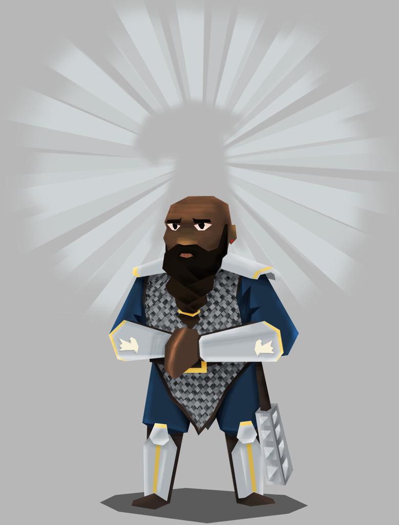 Bahamut's dwarf cleric by DarkSteelPenguin