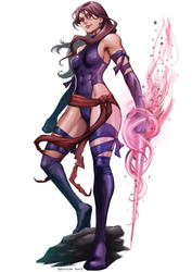 Psylocke redraw by DanuskoC