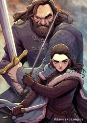 Arya and The Hound 2019 fanart