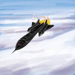 SR-71 Blackbird by shaztalion
