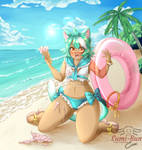 COM: Beach Kitty