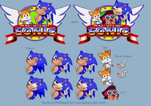 OK K.O! Let's Meet Sonic Genesis Style Sprites