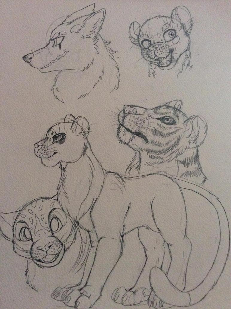 Tiger doodle by Pok3M0n-Lov3r56