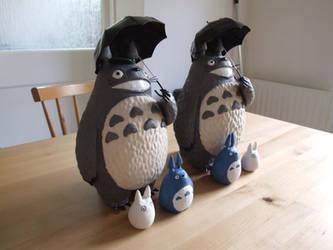 Two Totoros by Bakenekoya