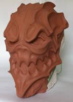 WIP Harlequin mask full size by Bakenekoya