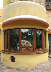 Totoro ticket booth by Bakenekoya