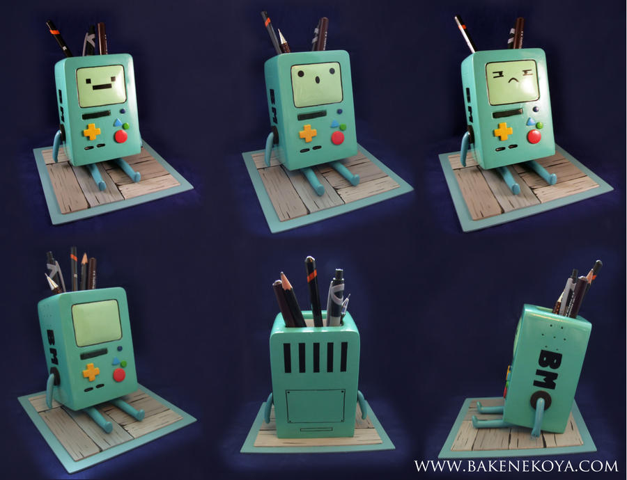BMO pen pot by Bakenekoya