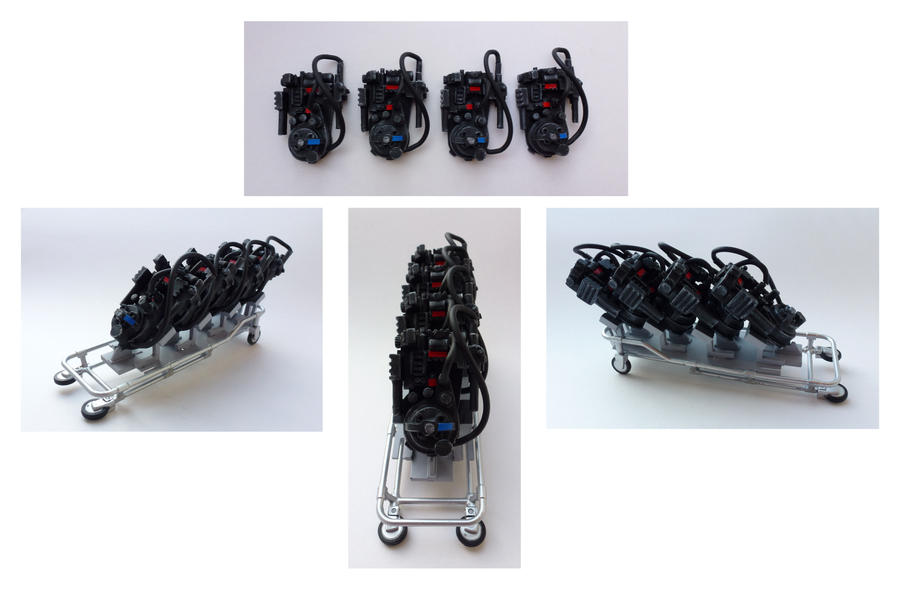 Miniature Proton packs by Bakenekoya
