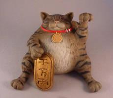 New Super Lucky Fat Tabby by Bakenekoya