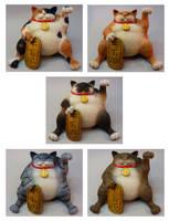 Super Lucky...Fat? new litter by Bakenekoya