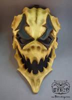 New Harlequin skull mask by Bakenekoya