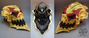 New Harlequin skull mask views