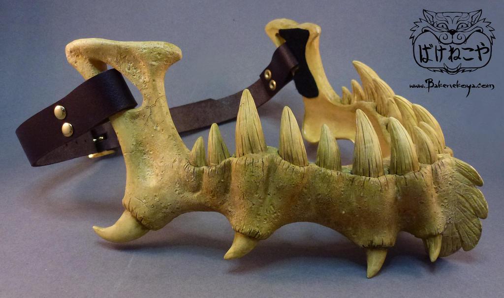 Dragonlord Jaw Bone mask by Bakenekoya