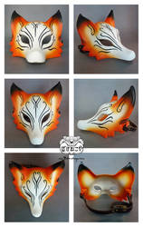 Kitsune mask views by Bakenekoya