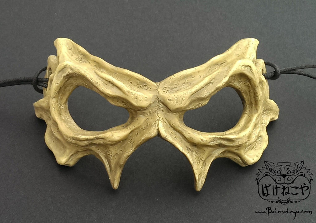Demon skull eye mask by Bakenekoya