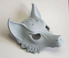 Kitsune mask V.2 wip by Bakenekoya
