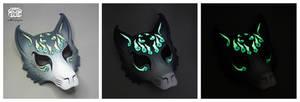 Kitsune Mask - Grey Graffiti
