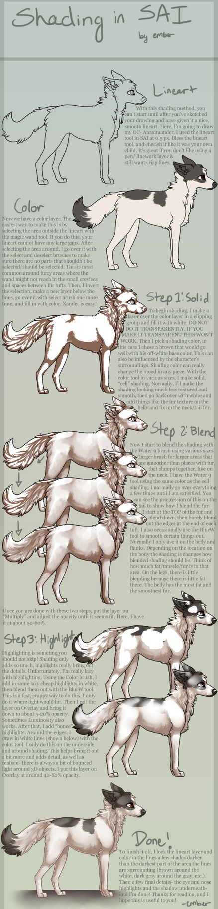 SAI [fur] Shading Tutorial by pipamir