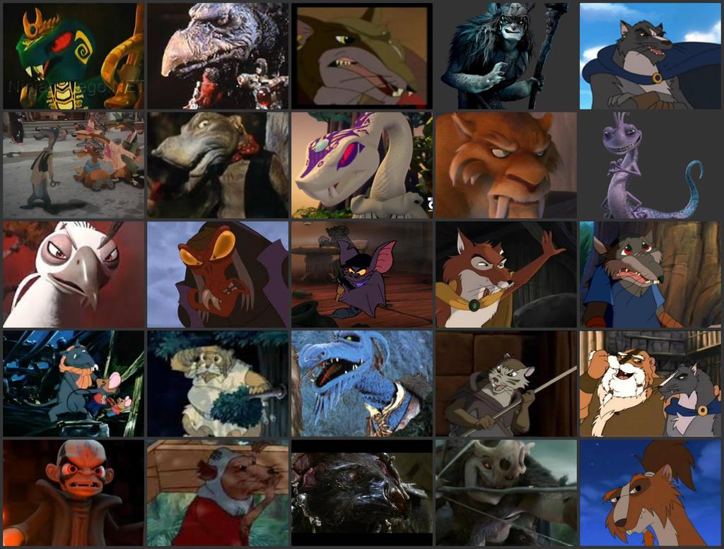 my top 25 villains by spiritbird250 on deviantart