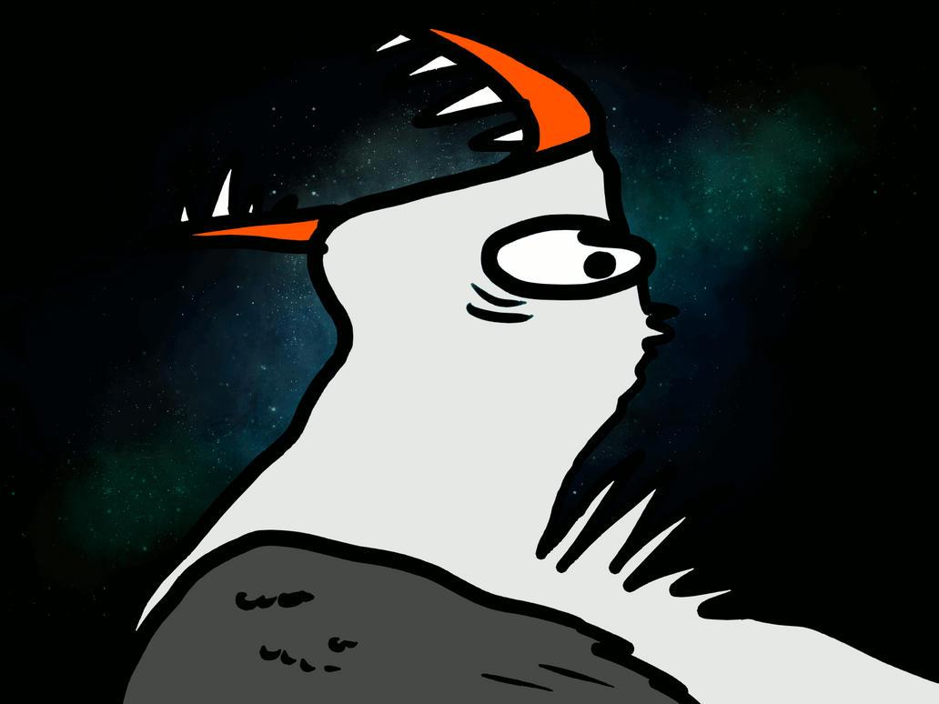 galaxy seagull by snowowl24