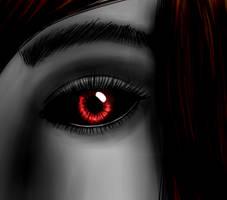 Selene Aess Da'lguiar (A ghuleh's) Eye by GhoulMage