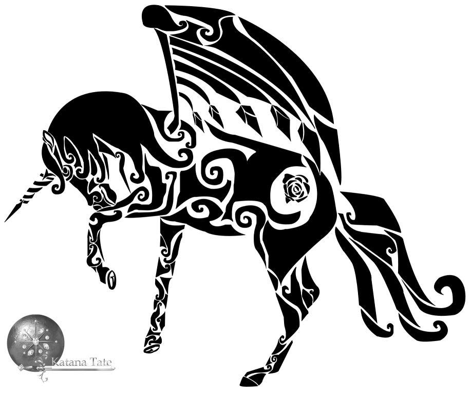 Tribal Alicorn by Katana-Tate