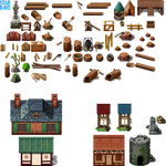 Logging Camp and Village Buildings - RMMV RTP Edit