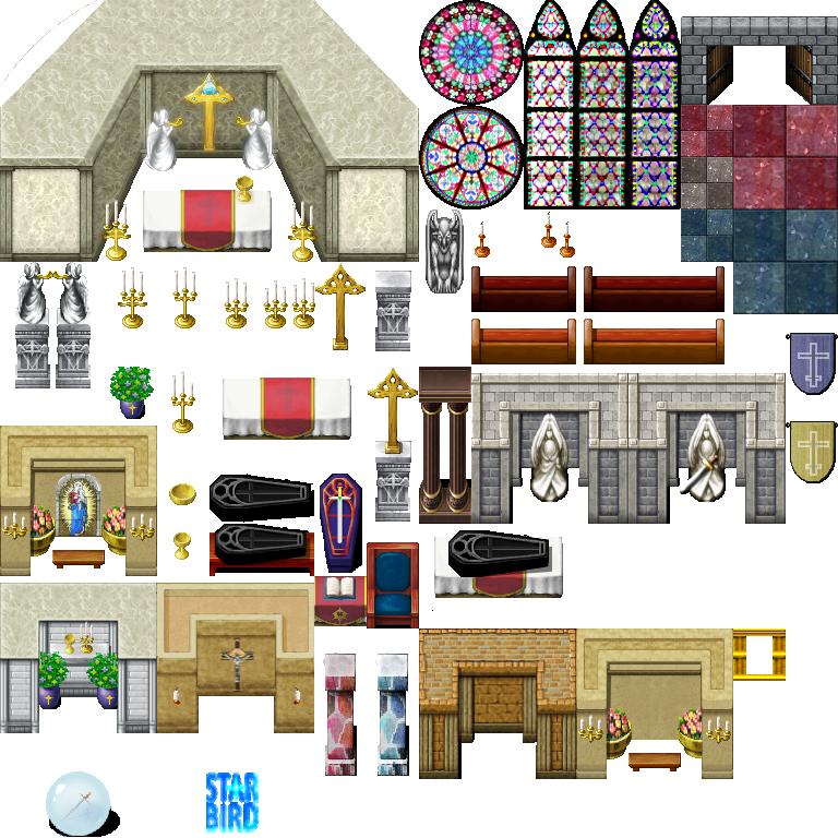 Church Interior Tileset By Starbirdresources On Deviantart