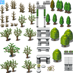 Tree and Monument Tiles - RMMV RTP Edits