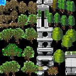 Tree and Monument Tiles - RMMV RTP Edits
