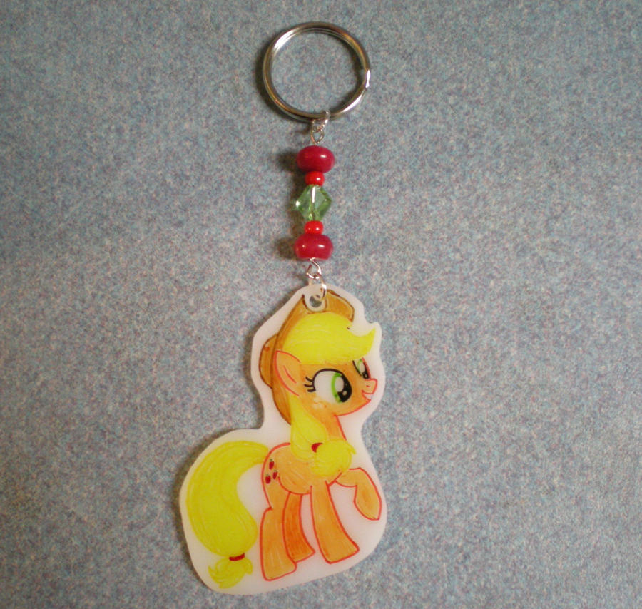 MLP Applejack Keychain Charm FOR SALE by AmyAnnie14