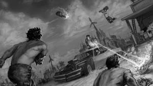 Rage Illustration - w.i.p.
