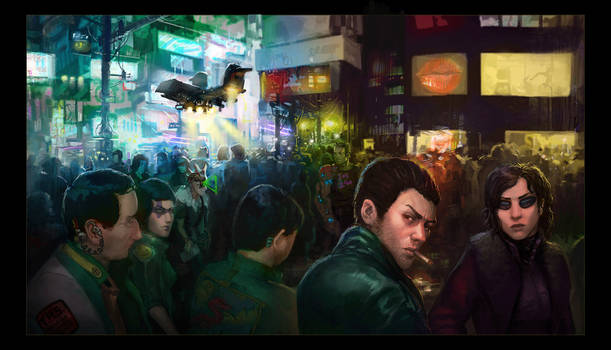 Neuromancer - CGHub Illustrated contest - WIP