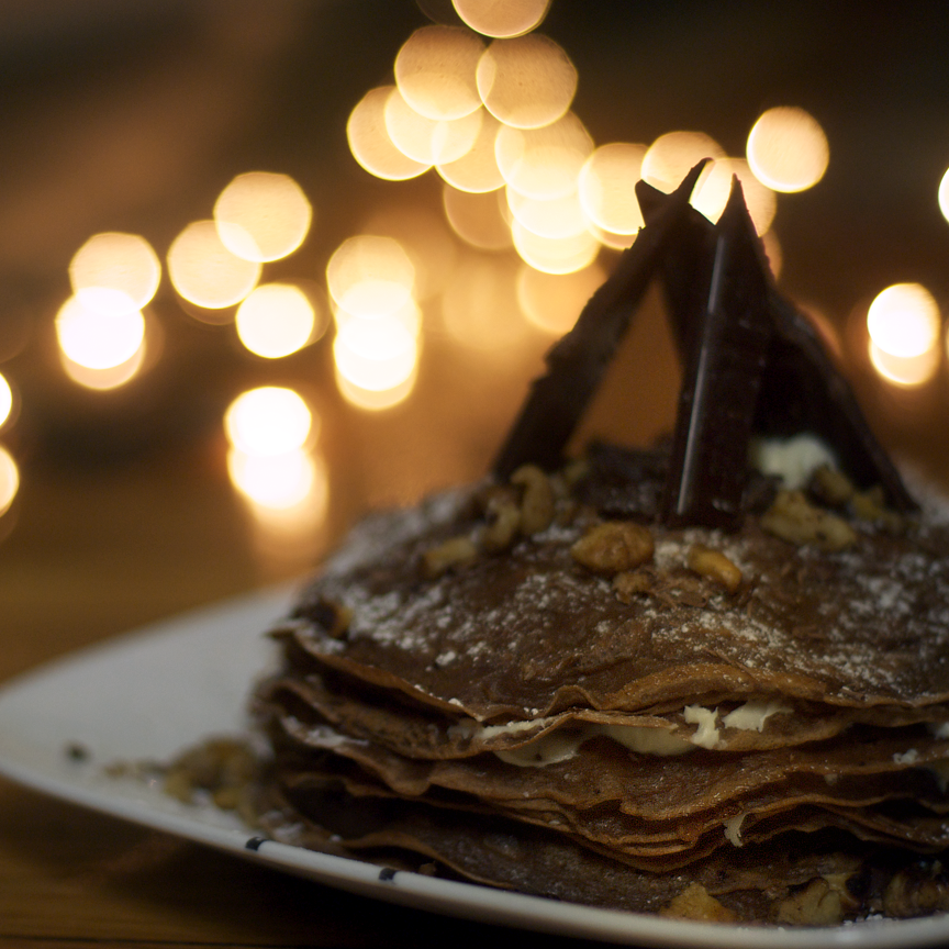 chocolate crepe cake by ordinaryriches