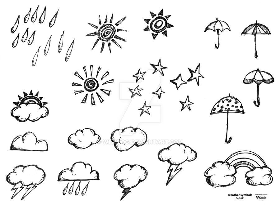 Weather Symbols By Wiledog On Deviantart