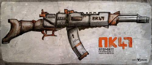 Automat AK47-A by wiledog