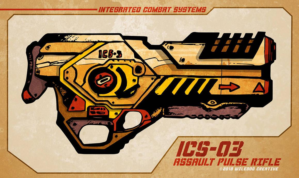 ICS-03 Pulse Rifle by wiledog