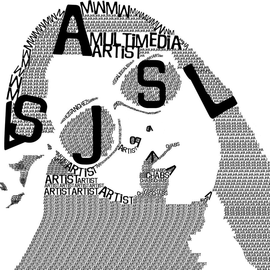 typographic self portrait by jhalissa26 on deviantart