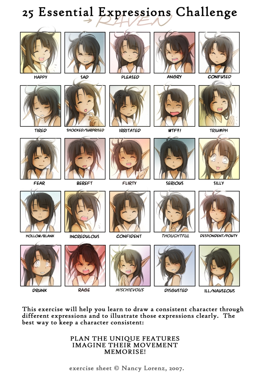 25 Essential Expressions:Raven by Achiru-et-al