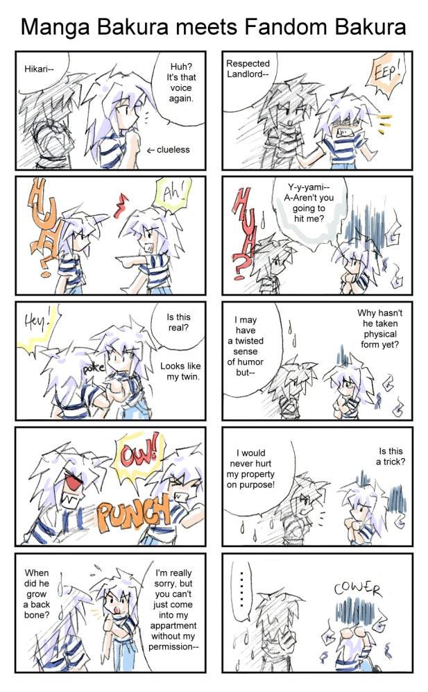 Manga Bakura vs Fandom Bakura by Achiru-et-al