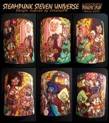 STEAMPUNK Steven Universe Wooden Pencil Cup