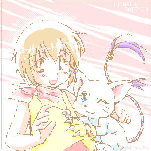 Hikari and Gatomon by Achiru-et-al