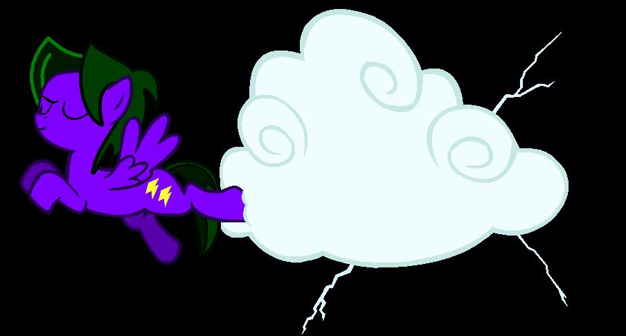 Lightning Rocker kicking clouds by LR-Studios