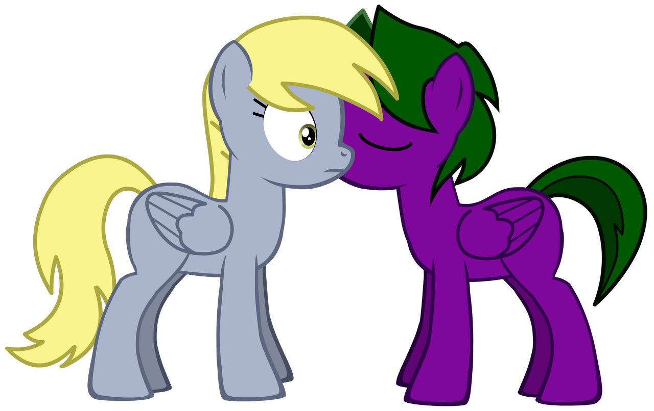 Lightning Rocker kisses Derpy Hooves by LR-Studios