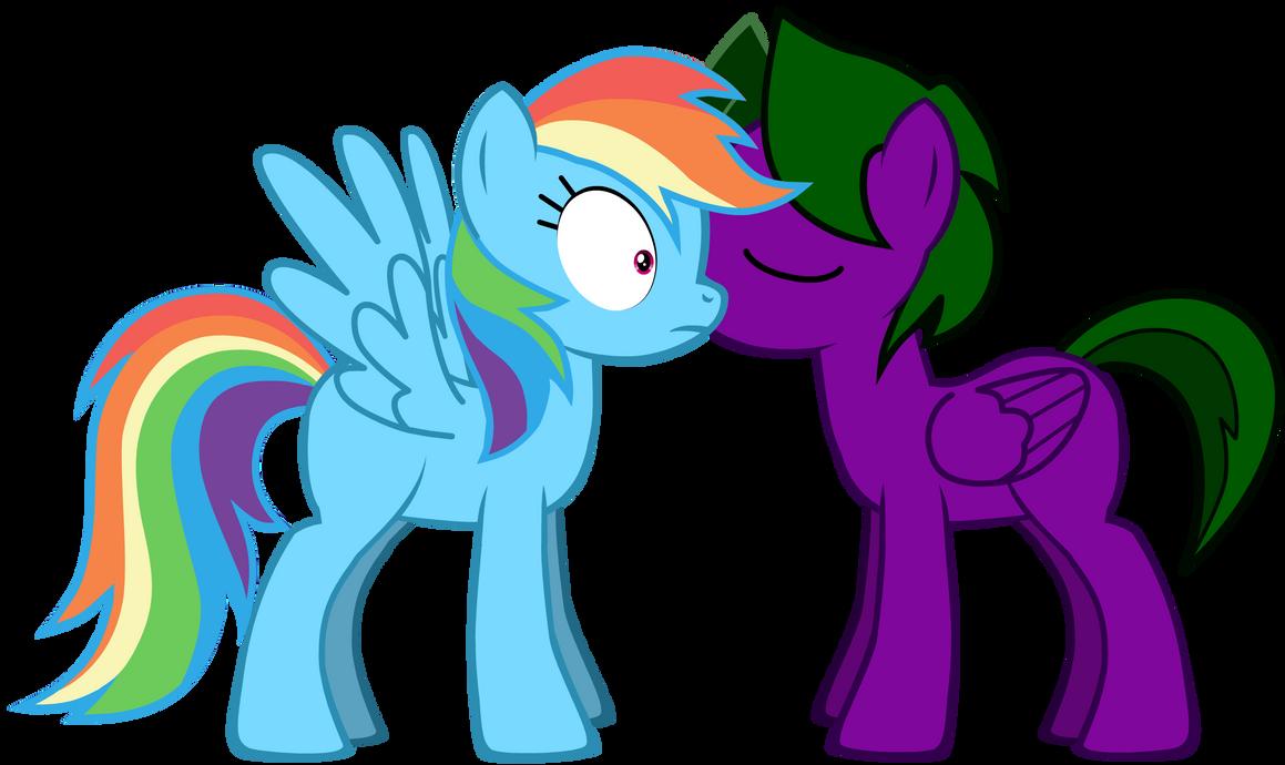Lightning Rocker kisses Rainbow Dash by LR-Studios
