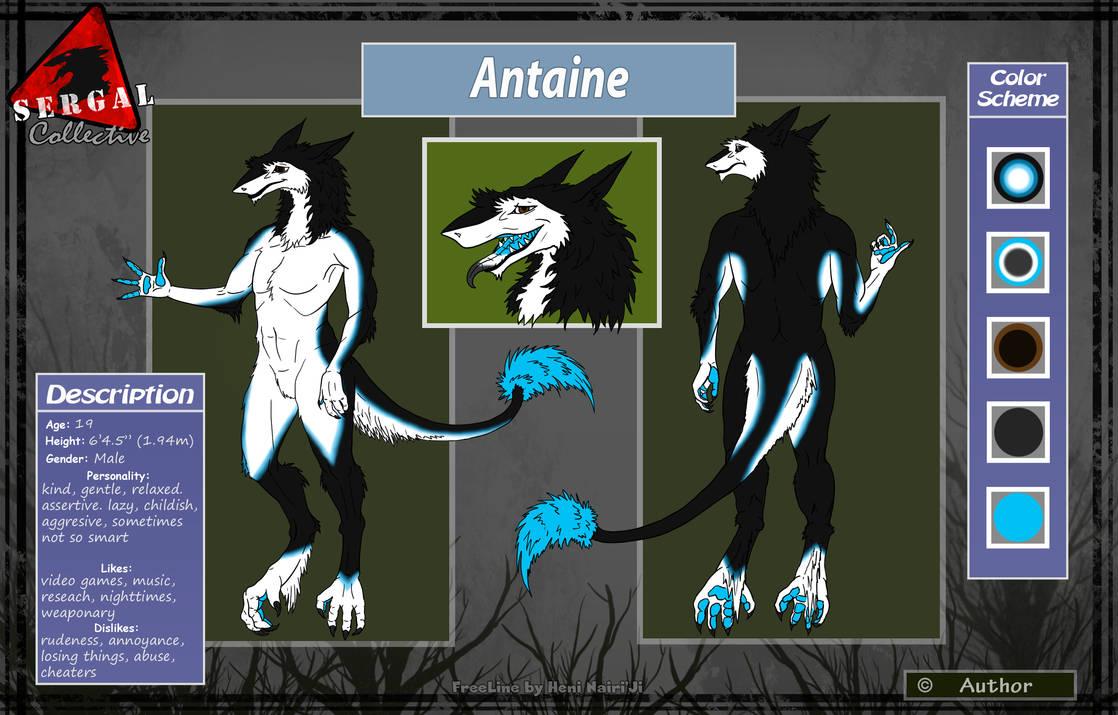 Antaine the Sergal (Fursona)