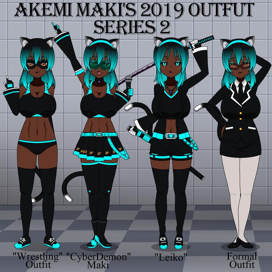 Akemi Maki's 2019 Outfit Series 2 by LR-Studios