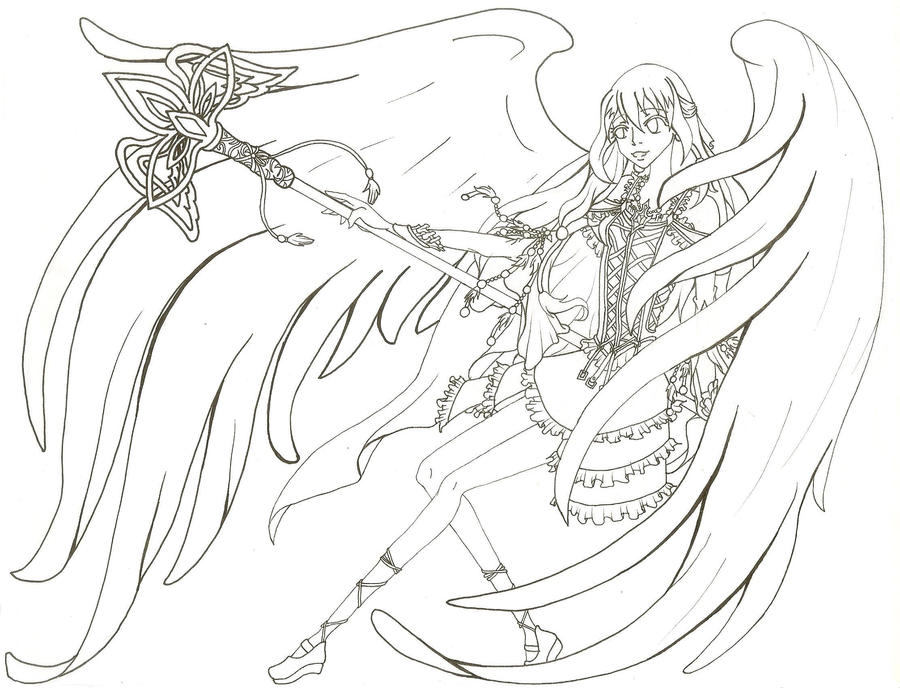 anime coloring pages angels - photo#20