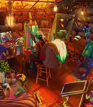 Darius - I'd like to paint, too (fan art)
